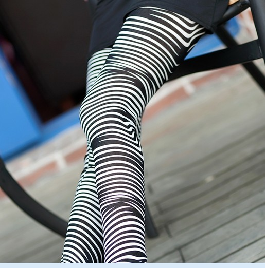Fashion Slimming Zebra Women Leggings on Sale